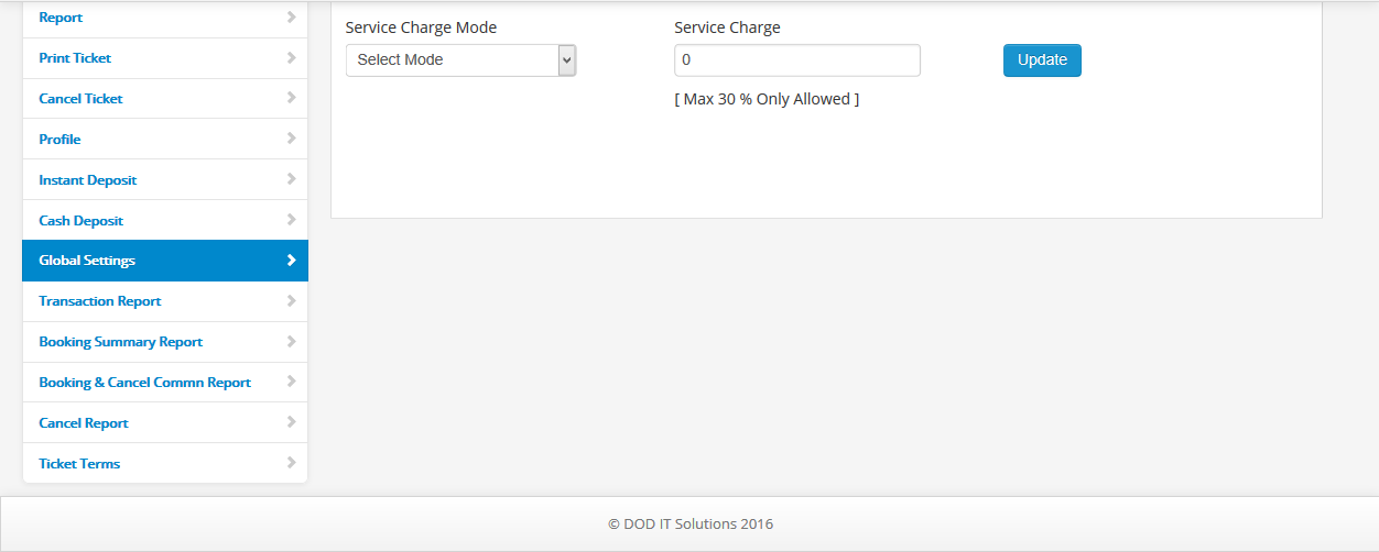 service charge mode