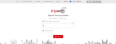 tripwith location search for bus tickets