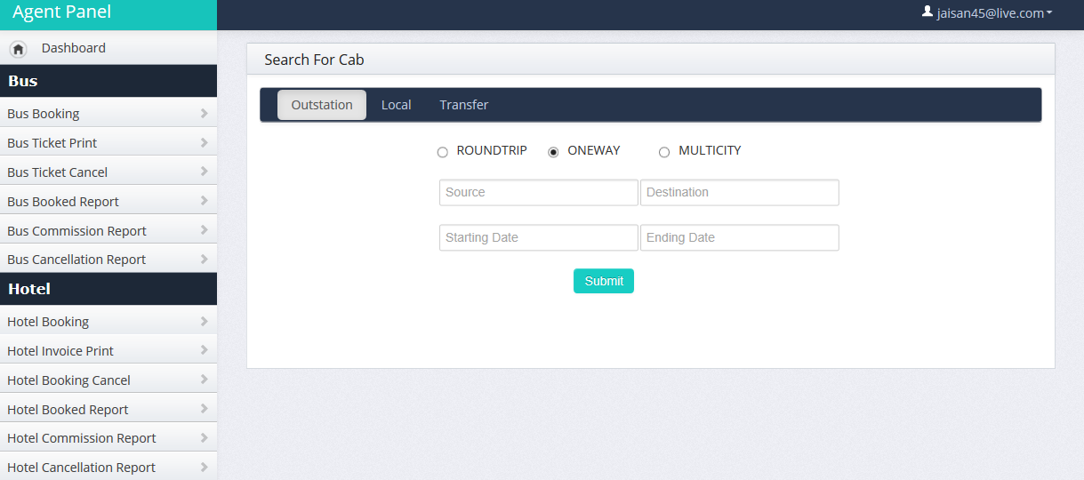 cleartrip-subagent-cabbooking