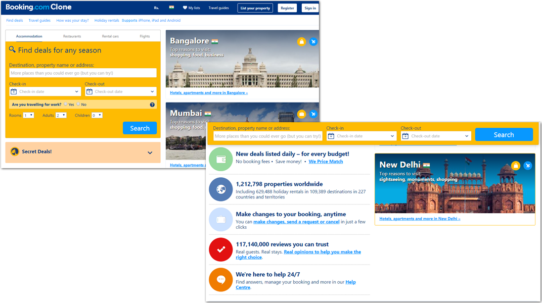 doditsolutions-bookingclone-homepage