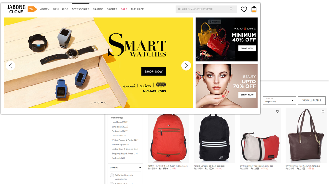 doditsolutions-jabong-clone-user-home