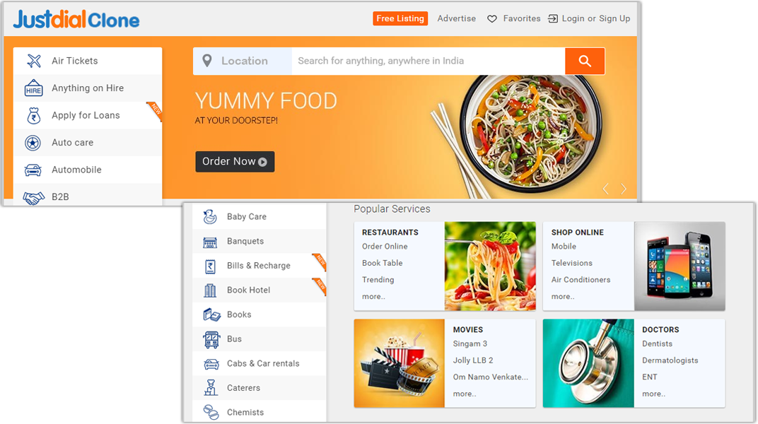 doditsolutions-justdial-clone-homepage