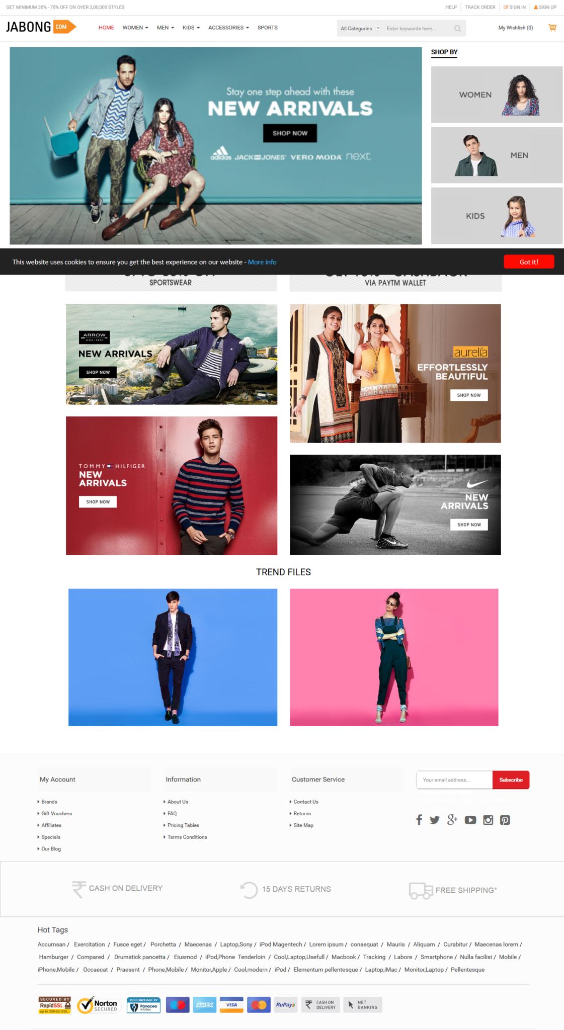 jabong-user-homepage