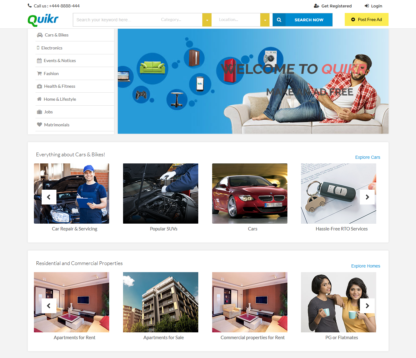 quikr-user-homepage