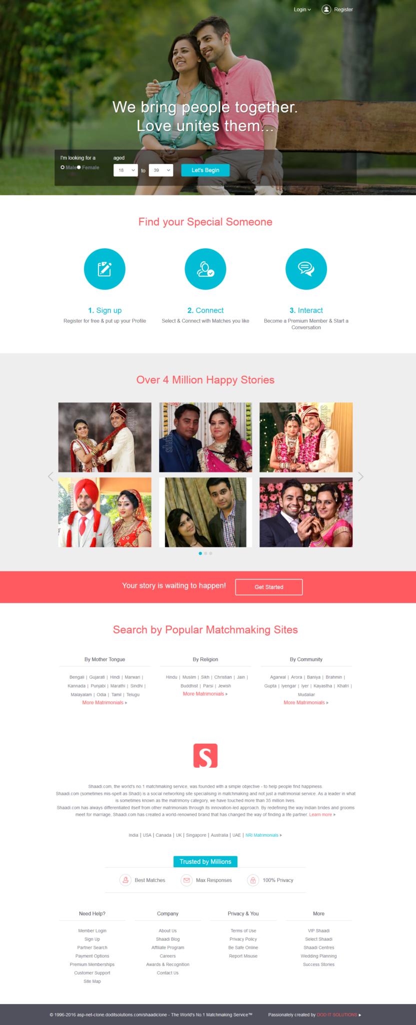 shaadi-user-homepage